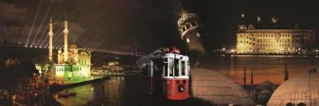 - İstanbul-Gece Temalı Kanvas Tablo