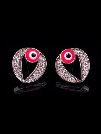 Kırmızı Gözlü Küpe - Thumbnail