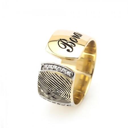 - Kişiye Özel 925 Ayar Gümüş Parmak İzi Bayan Alyans