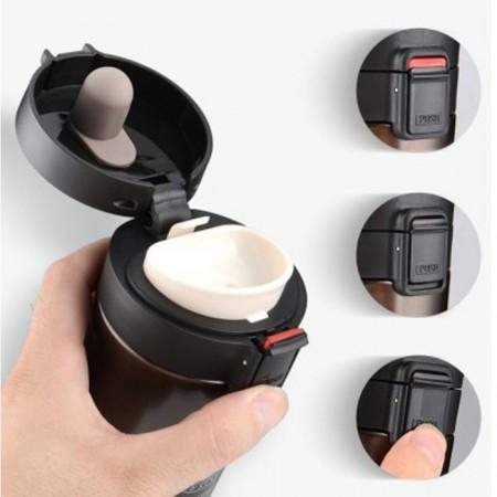 - Kişiye özel Kahve Termosu 400 ml Siyah