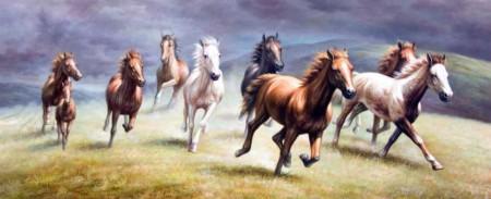 Tesbihane - Koşan Atlar Kanvas Tablo