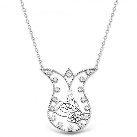 Tesbihane - Lale ve Tuğra Tasarım 925 Ayar Gümüş Kolye