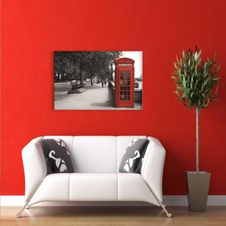 - Londra Telefon Kulubesi Kanvas Tablo (Model-2)