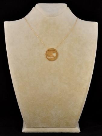 - Madalyon Vav Kolye (Sarı)