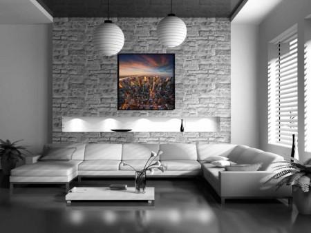 - New York Manzaralı Kanvas Tablo