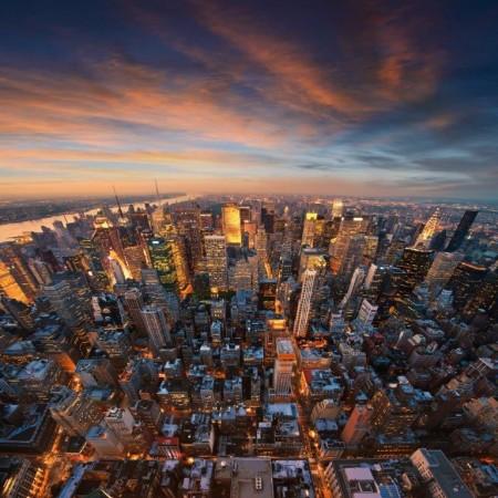 New York Manzaralı Kanvas Tablo - Thumbnail