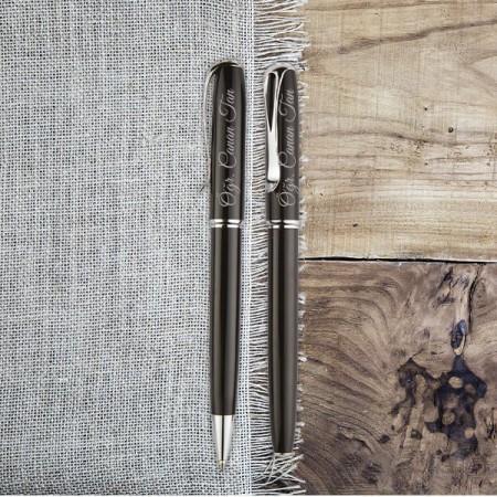 Tesbihane - Öğretmenler Günü Hediyesi Kalem Seti Ediz Siyah