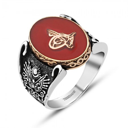 - Oniks Taşlı 925 Ayar Gümüş Yüzük