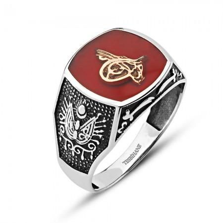 - Osmanlı Devlet Armalı 925 Ayar Gümüş Zülfikar Yüzük