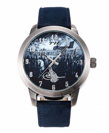- Osmanlı Ordusu Temalı Tuğralı Mavi TH Kol Saati