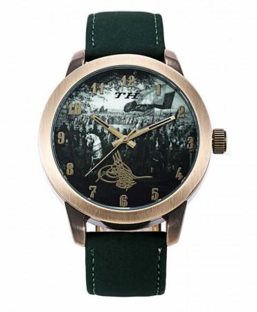 - Osmanlı Ordusu Temalı Tuğralı Yeşil TH Kol Saati