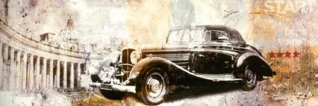Tesbihane - Özel Tasarım Araba Temalı Kanvas Tablo