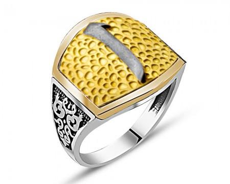 - Özel Tasarım Elif Yazılı Gümüş Yüzük