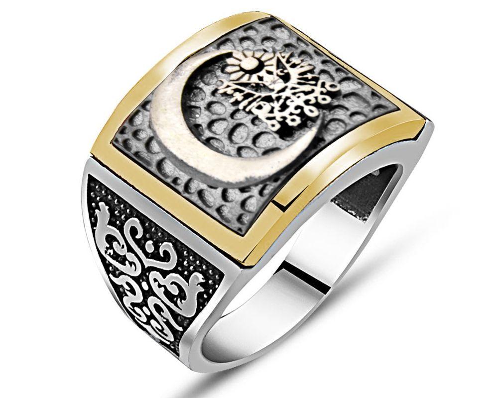 Özel Tasarım Osmanlı Arma Gümüş Yüzük