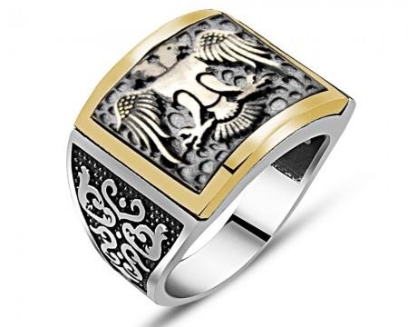 - Özel Tasarım Selçuk Kartal Gümüş Yüzük