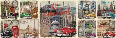 Tesbihane - Pul Tasarım İstanbul Temalı Kanvas Tablo