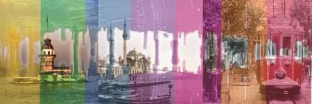 Tesbihane - Rengarenk İstanbul Kanvas Tablo