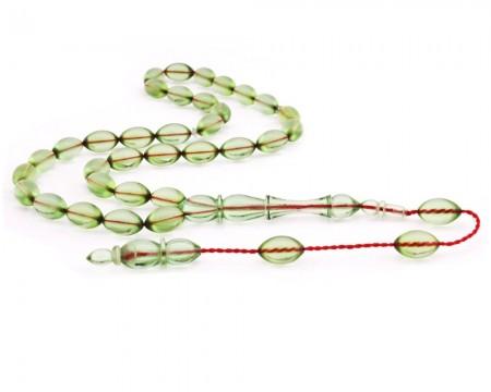 Tesbihane - Sıralı Sistem Usta İşi Sıkma Kehribar Tesbih (Model-3)