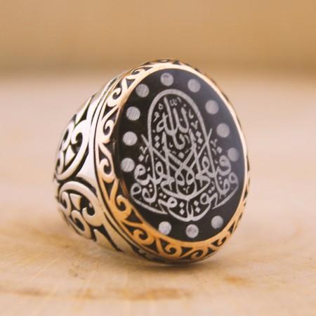 - Siz İsteyin Biz Yapalım - Kişiye Özel Yazılı 925 Ayar Gümüş Yüzük Arapça -34-