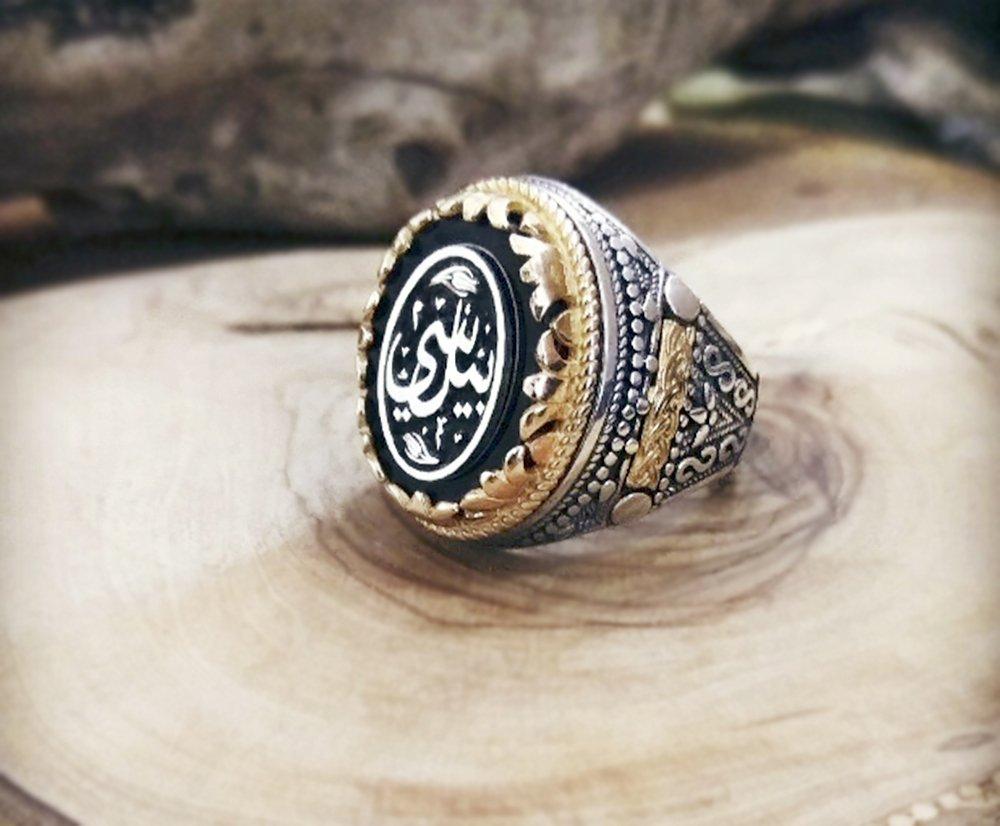 Siz İsteyin Biz Yapalım - Kişiye Özel Yazılı 925 Ayar Gümüş Yüzük