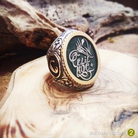 - Siz İsteyin Biz Yapalım - Kişiye Özel Yazılı 925 Ayar Gümüş Yüzük Türkçe -24-