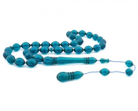 Tesbihane - Usta İşçiliği Mavi Bakalit Kehribar Tesbih