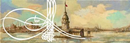 Tesbihane - Yağlı Boya Tasarım Kız Kulesi Kanvas Tablo