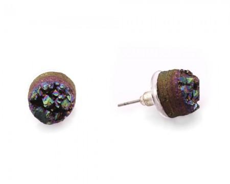 - Yanardöner Kristal Mineral Doğataş Küpe (Model-1)