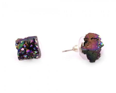 - Yanardöner Kristal Mineral Doğataş Küpe (Model-2)