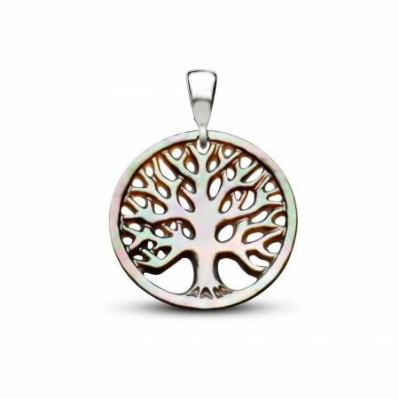 - Yeşil Sedef Yapım Hayat Ağacı Kolye (Gümüş Zincirli)