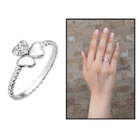 Tesbihane - Yonca Tasarım 925 Ayar Gümüş Bayan Yüzük